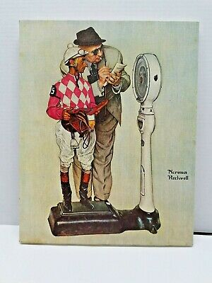 $ CDN34.18 • Buy Norman Rockwell Print On Canvas- Waighing In 1970's Printed Lithograph In Canvas