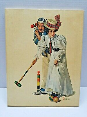 $ CDN47.33 • Buy Norman Rockwell Print On Canvas Wicker Thoughs Printed Lithograph In Canvas 1970