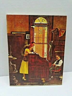 $ CDN60.49 • Buy Norman Rockwell Print On Canvas Marriage License Printed Lithograp Incanvas 1970