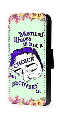 £11.15 • Buy Mental Health Phone Case Inspiring Quote Faux Leather Mobile Flip Wallet Case
