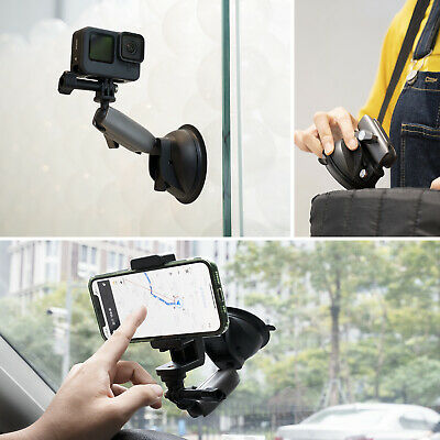 £7.39 • Buy TELESIN Car Suction Cup Adapter Mount Tripod For GoPro Hero 9 8 7 6 5 Camera UK