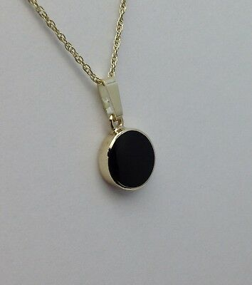 Whitby Jet And 9ct Gold Pendant GP023 Hand Made In Whitby • 140£