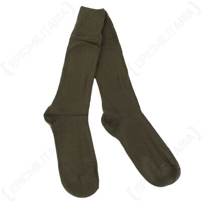 Italian Army Olive Wool Socks - New - Quality Navy Air Force Military Boot Socks • 4.45£