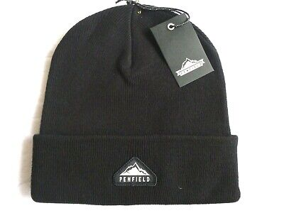 PENFIELD USA Black Cuff BEANIE Hat Toque Tags *SUPER COMFY* One Size UNISEX • 27.50£
