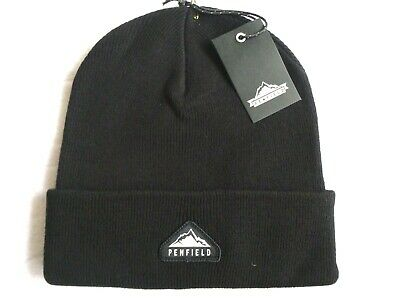 PENFIELD USA Black Cuff BEANIE Hat Toque Tags *SUPER COMFY* One Size UNISEX • 14.99£