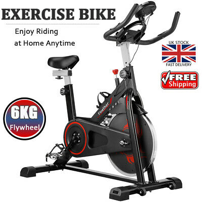 Finether Exercise Bike Training Sports GYM Home Fitness Bicycle Workout Machine • 169.99£