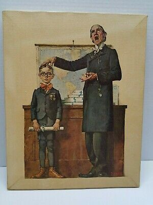 $ CDN60.49 • Buy Norman Rockwell Print ''The School Master'' Printed Lithograph On Canvas1973