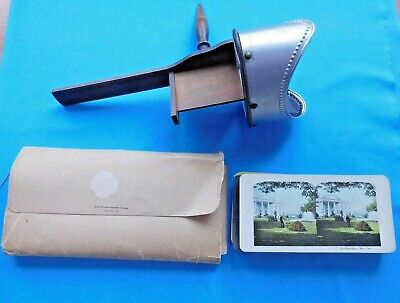 £94.38 • Buy Antique 1904  Monarch Stereoscope Viewer With 36 Cards~case~excellent Condition