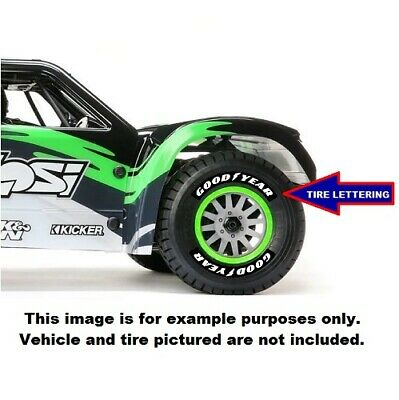 GOODYEAR Tire Decals For Team Losi Racing Super Baja Rey 1/6 Scale • 9.99$