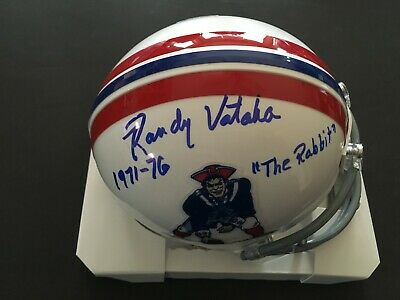 $39.95 • Buy Randy Vataha New England Patriots Signed Mini Helmet  J.s.a. W/2 Inscriptions