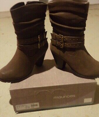 $ CDN71.59 • Buy Maurices Women's Brown Boots Size 5 1/2 New In Box Studded Buckle Mid Calf Rikki