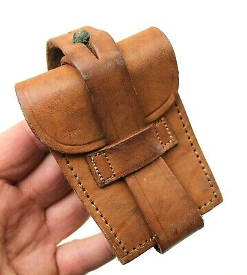 £13.79 • Buy Genuine Argentina Army Leather Ammo Pouch