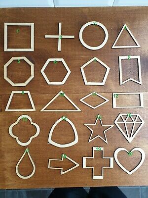 £1.50 • Buy Shapes Wooden MDF Ply Wood Craft Scrapbooking Card Decoration Embellishment 3mm