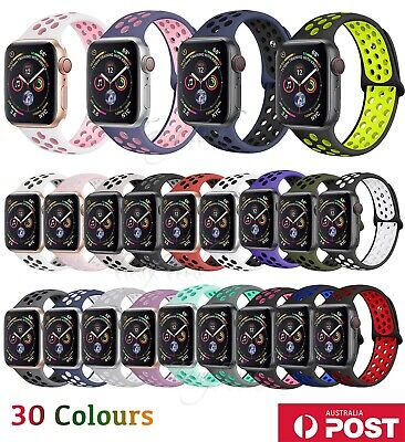 AU8.90 • Buy Nike Sport Silicone Strap IWatch Band For Apple Watch 38/40/42/44mm Series 54321