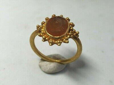 £1100 • Buy Late Roman Gold Ring With Intaglio 3rd, 4th Century AD
