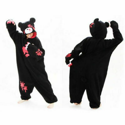 Gloomy Bear Black Costume Kigurumi Anime Cosplay Pyjamas Onesie12 Fancy Dress UK • 24.99£