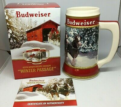 $ CDN35.68 • Buy 2019 Budweiser Holiday Stein Beer Mug Frm Annual Christmas Series WINTER PASSAGE