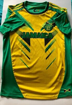 LMS Sports JAMAICA Soccer Rugby Jersey Men's Large Preowned • 27.99$