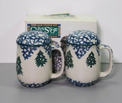 $10.58 • Buy One Folk Craft Cabin In The Snow Salt And Pepper Shaker Set Christmas - Tienshan