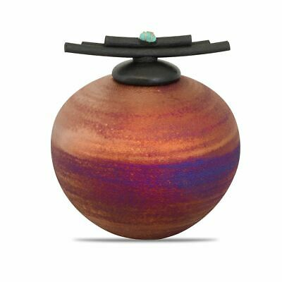 $74.99 • Buy Ceramic Raku Small Cremation Urn For Ashes Handmade Keepsake Funeral Urn