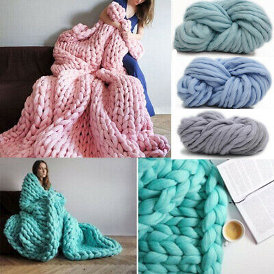 AU10.59 • Buy 250g Super Thick Bulky Wool Yarn Soft Chunky Hand Knitting Hat Scarf Blanket BR