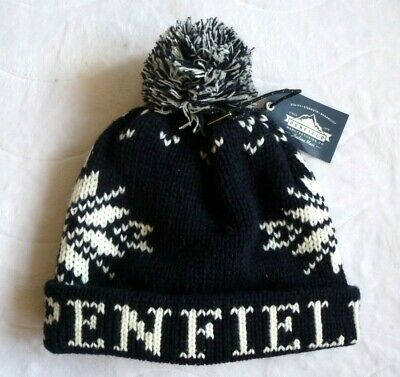 PENFIELD USA Navy Cuff BOBBLE BEANIE Hat Toque Pompom *SUPER COMFY* One Size • 34.50£