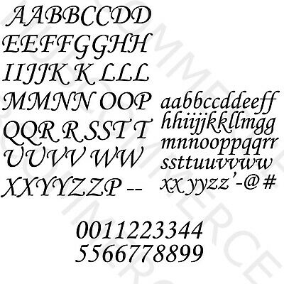 CAPITAL & Small LETTERS & Number Vinyl Decal A To Z Alphabet Stickers Kit Letter • 7.66£