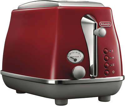 AU129 • Buy NEW DeLonghi CTOC2003R Icona Capitals Tokyo Red 2 Slice Toaster