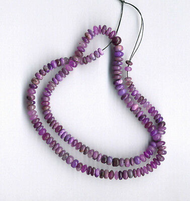 $899 • Buy MIXED SUGILITE & GEL SUGILITE RONDELLE BEADS - 17.5  Strand - 1900C