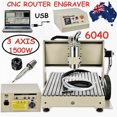 AU990.02 • Buy New 3/4Axis CNC3040/6040/6090 USB/Parallel Router Engraving Mill/Drill 3D Cutter