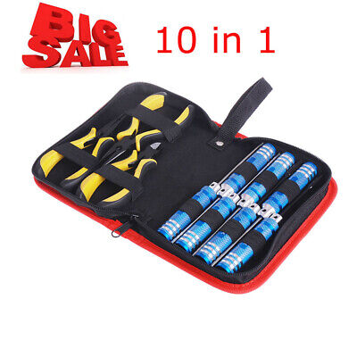10in 1 Tool Kit With Box For Align 450 Helicopter Plane RC Model Car Repair Q2A0 • 17.25£