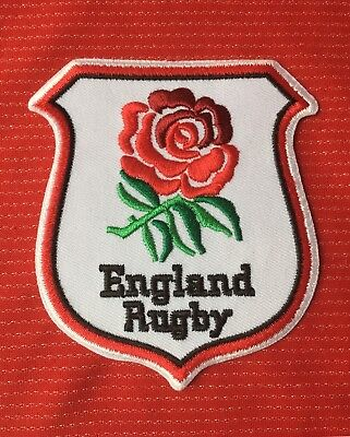 England Rugby Union Red Rose Flag  Badge Iron Sew On Patch Crest • 3.49£