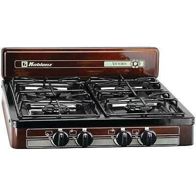 4 Burner Portable Propane Gas Stove Outdoor Camping Cooking RV Kitchen Cooktop • 64.91$