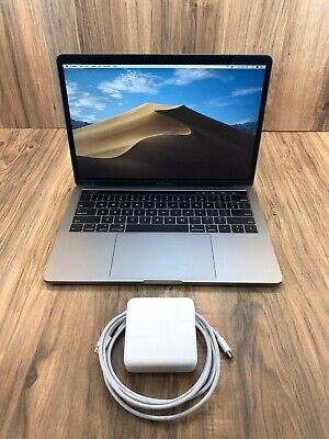 """Apple MacBook Pro 2018 Space Gray 13"""" Touch Bar 512GB SSD 8GB RAM 2.3GHz Tested • 1,175$"""