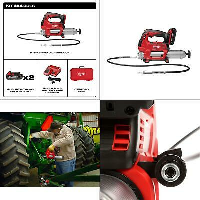 $396.99 • Buy M18 18-volt Lithium-ion Cordless Grease Gun 2-speed With (2) 1.5ah Batterie