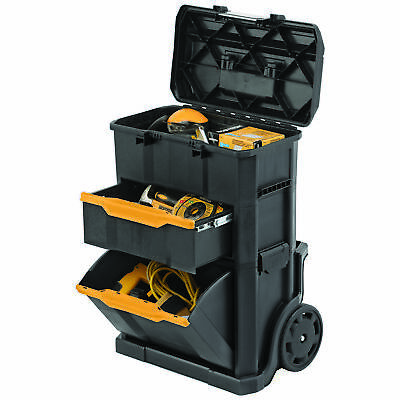 View Details 2-in1 Rolling Workshop Tool Box Mobile Cart Work Center Mechanic Heavy Duty • 60.76$