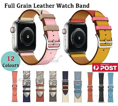 AU16.90 • Buy 【Genuine Leather】Band Strap For Apple Watch IWatch Series 5 4 3 21 38/40,42/44mm