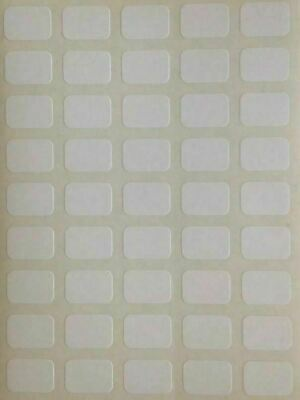 225 Small White Sticky Labels 9 X 13 Mm Price Stickers Tags Plain Price Labels • 1.99£