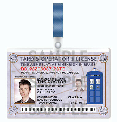 DOCTOR WHO - 10th Doctor Cosplay I.D. Badge • 3.59£