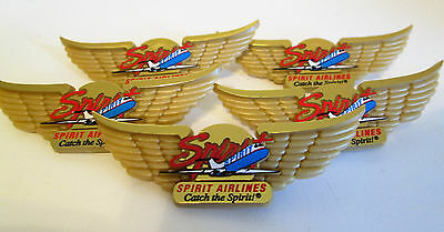 SPIRIT AIRLINES PIN JUNIOR JR PILOT WINGS LOT - 2001 OLD LOGO LOT Of 5 • 7.95$