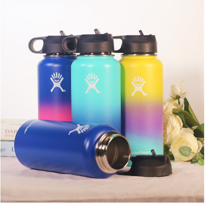 Hydro Flask Wide Mouth Stainless Steel Bottle With Cap Multicolor 18oz 32oz • 19.95$