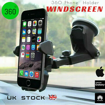 Universal In Car Mobile Phone Sat Nav Pda Gps Holder With Locking Suction Mount • 4.99£