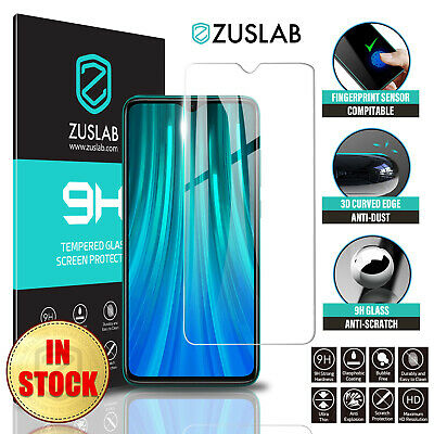 AU5.99 • Buy For Xiaomi Redmi Note 8 Pro ZUSLAB Full Cover Tempered Glass Screen Protector
