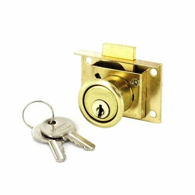 £3.95 • Buy Securit S1678 Brass Plated Drawer Cabinet Cupboard Lock With 2 Keys Key Fittings