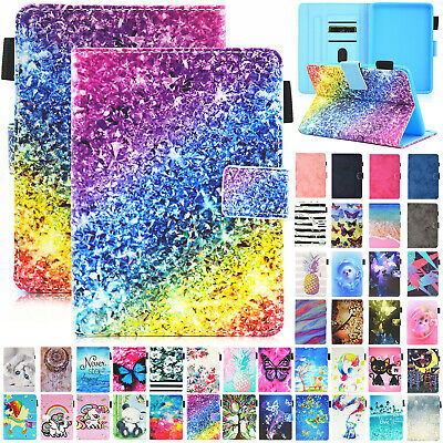 For Amazon Kindle 2019 10th Gen 6  Leather Pattern Cover Wallet Stand Flip Case • 8.39£
