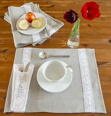 Cotton Placemats / Table Mats For Wedding Tables Decor / Dinner Parties  • 4.50£