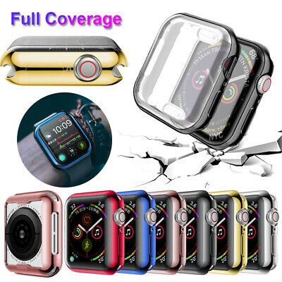$ CDN1.63 • Buy Coverage Screen Film Watch TPU Case Soft Cover For Apple Watch Series 4 3 2