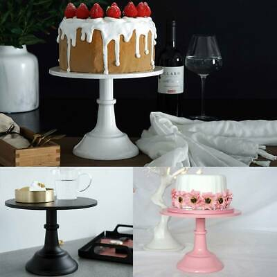 10Inch WEDDING CAKE STAND Round Metal Event Party Display Pedestal Plate Tower • 10.59£