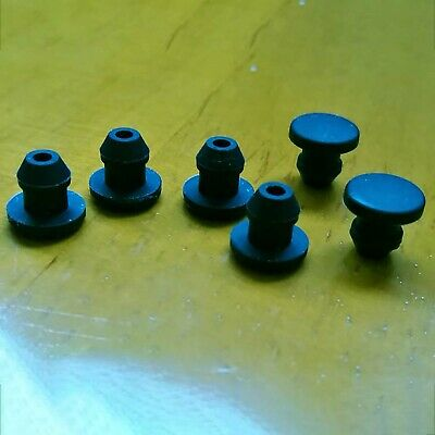 Black Snap-on Hole Plugs Silicone Blanking End Caps Pipe Tube Inserts 2.5mm~14mm • 1.39£