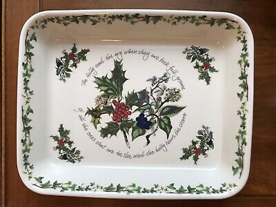 Portmeirion The Holly And The Ivy Rectanglur Baker Lasagna Casserole Excellent! • 39.95$
